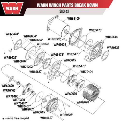 warn winch cam follower - 69632 warn a2000 parts diagram  socal powersports