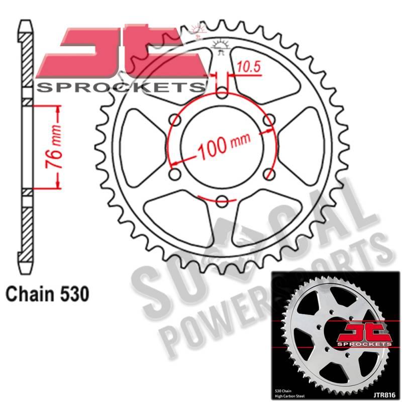 JT Sprockets JTR816.44 Rear Sprocket