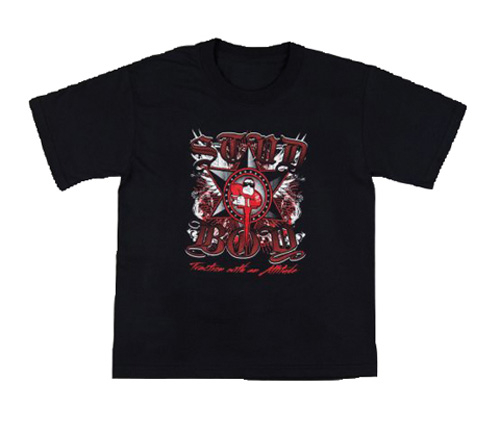 Stud Boy - Stud Boy Kids Black T-Shirt Medium - 2531-01