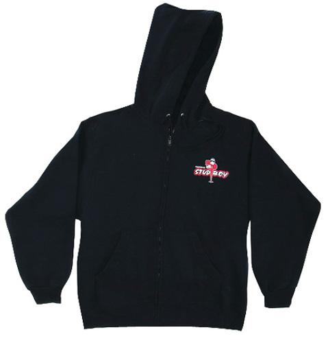 Stud Boy - Stud Boy Black Zip Hoodie, 2X-Large - 2492-03