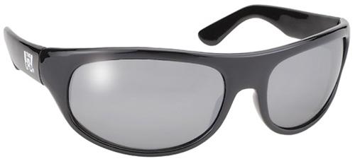 PACIFIC COAST - Pacific Coast Wrap Sunglasses - Black Frame / Silver Lens - 208