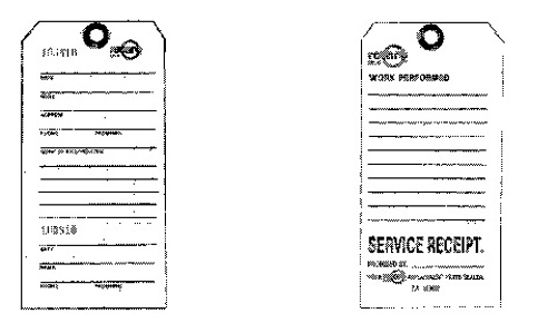 """ROTARY - Rotary 3-1/4"""" X 6-1/4"""" Service Tags (Min 100) - 32-9087"""