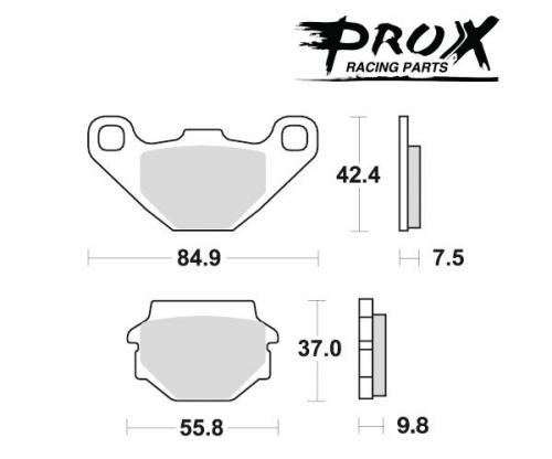 Pro-X - Pro-X Brake Pads - 37.105002