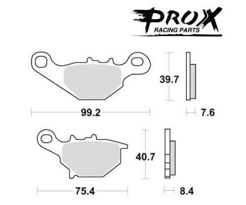 Pro-X - Pro-X Brake Pads - 37.105202