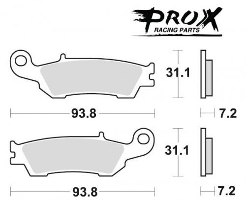 Pro-X - Pro-X Brake Pads - 37.105802