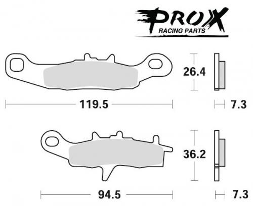 Pro-X - Pro-X Brake Pads - 37.106202