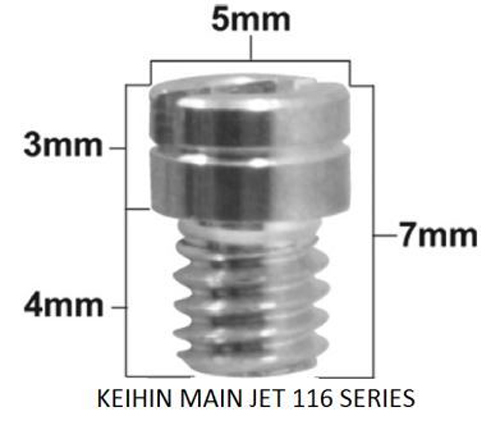 Pro-X - Keihin 99101-116 Series Main Jet #100 (Pack Of 5) - 45.116100