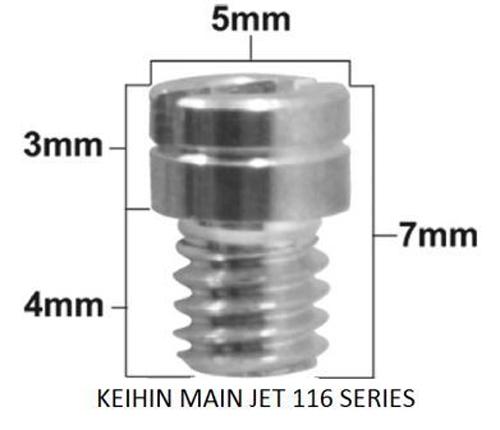 Pro-X - Keihin 99101-116 Series Main Jet #110 (Pack Of 5) - 45.116110