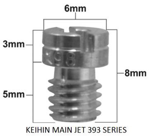 Pro-X - Keihin 99101-393 Series Main Jet #135 (Pack Of 5) - 45.393135