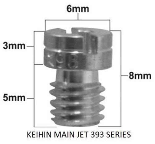 Pro-X - Keihin 99101-393 Series Main Jet #145 (Pack Of 5) - 45.393145