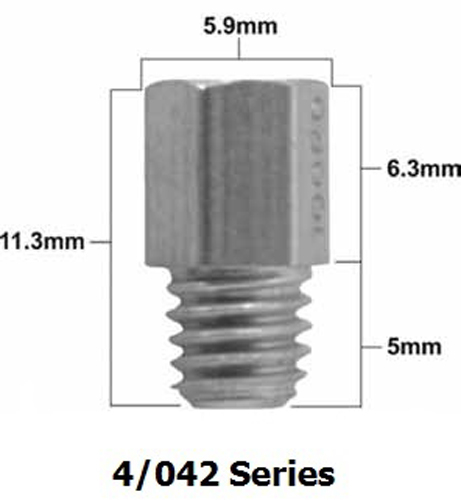 Pro-X - Mikuni 4/042 Series Main Jet #405 (Pack Of 5) - 47.405