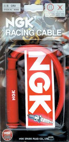 NGK - NGK Plug Cable- 90' 100cm Removable Cap- 7mm - CR5