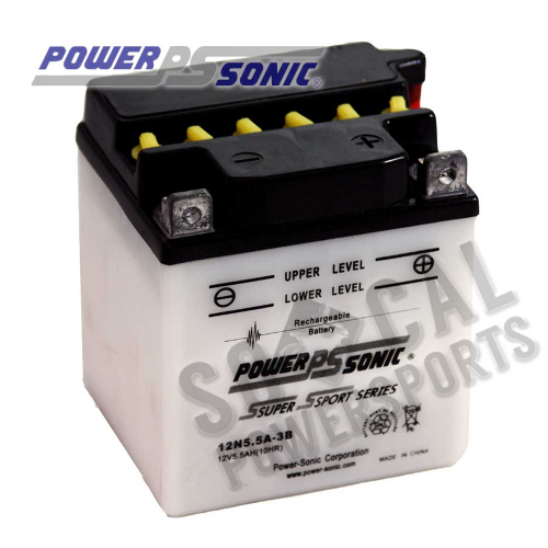 POWER SONIC - Power Sonic Conventional Battery - 12N5.5A-3B