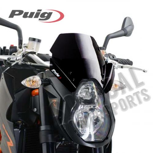 Puig - PUIG Racing Windscreen - Black - 4942N